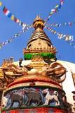Stupa Swayambhunath, Katmandu, Nepal royaltyfri foto