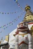 Stupa in Swayambhunath Monkey temple in Kathmandu, Nepal. Royalty Free Stock Photography