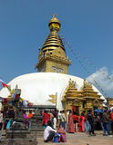 Stupa. Swayambhunath Stupa, it is one of the oldest Buddhist temple in the world Stock Images