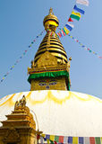 Stupa of the swayambhunath temple in kathmandu, Ne Royalty Free Stock Images