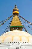 Stupa of the swayambhunath temple in kathmandu, Ne Stock Photo