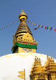 Stupa of the swayambhunath temple in kathmandu, Ne Royalty Free Stock Photography