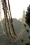 Stupa of the swayambhunath temple in kathmandu, Nepal Royalty Free Stock Images