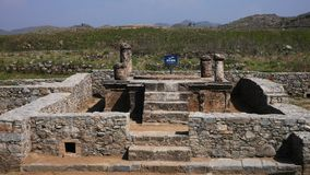 Stupa in taxila ruins Royalty Free Stock Image