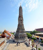 Stupa in the temple complex of Wat Arun Royalty Free Stock Image