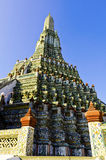 The stupa in the temple near the river ad thailand Royalty Free Stock Photo