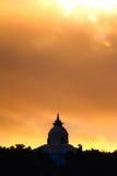 A stupa Temple over looking Phewa Lake, Pokhara, Nepal Royalty Free Stock Photography