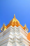 Stupa. In the temple with sky background royalty free stock photography