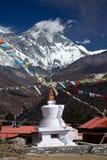 stupa tengboche 免版税库存图片