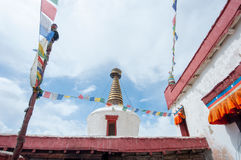 Stupa in Thiksey monastery, Ladakh, India Stock Photos