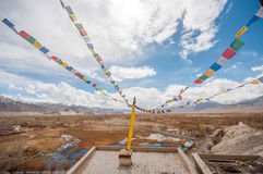 Stupa in Thiksey monastery, Ladakh, India Royalty Free Stock Images