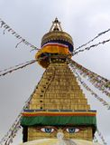 Stupa with Tibetan flags Stock Image