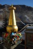 Stupa tibetano en China Fotografía de archivo