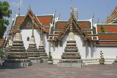 Stupa tiles, Wat pho, Bangkok,Thailand, Asia Royalty Free Stock Images
