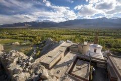 Stupa on the top of Shey Palace Leh Ladakh ,India. Stock Images