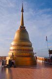 Stupa on the top of Tiger Temple (Wat Tham Suea) Stock Photo