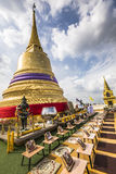 The Stupa at the top of Wat Saket, also known as the Golden Moun Stock Image