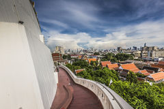 The Stupa at the top of Wat Saket, also known as the Golden Moun Royalty Free Stock Photography