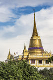 The Stupa at the top of Wat Saket, also known as the Golden Moun Stock Photography