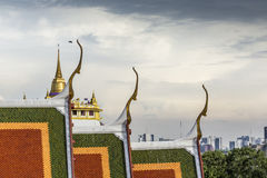 The Stupa at the top of Wat Saket, also known as the Golden Moun Royalty Free Stock Photo