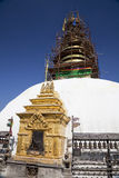 Stupa Under Renovation, Swayambunath, Nepal Royalty Free Stock Photos