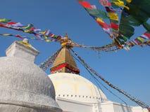 Stupa van Bodnath, Nepal Stock Afbeelding