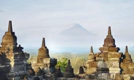 Stupa van Borobodur Stock Afbeeldingen