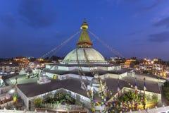 Stupa van Boudhanath in Katmandu, Nepal stock foto