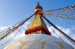 Stupa van Boudhanath in Katmandu, Nepal Royalty-vrije Stock Foto