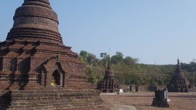 Stupa velho do tijolo em Myanmar Fotos de Stock