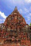 Stupa velho no ayudthaya, Tailândia Fotos de Stock Royalty Free