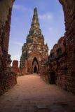 Stupa velho no ayudthaya, Tailândia Fotografia de Stock