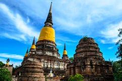Stupa w świątyni przy Ayutthaya Zdjęcia Royalty Free