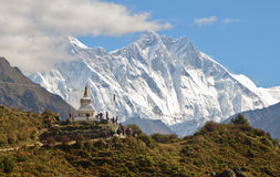 Stupa w himalajach Zdjęcia Stock