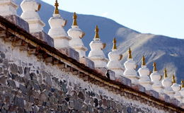 Stupa wall and hickwall Stock Photos