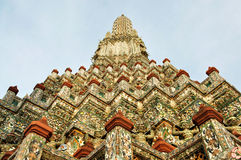 Stupa of wat aroon bangkok thailand. A part of stupa wat aroon bangkok thailand Stock Photos