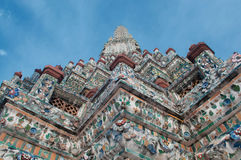 Stupa of Wat Arun temple in Thailand. Show temple background Stock Photo