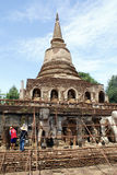 Stupa in wat Chang Lom Stock Images