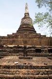 Stupa in wat Khao Suwankhiri in Si Satchanalai Stock Images