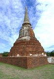 Stupa at Wat Mahathat, archaeological sites and artifacts. Stock Photos