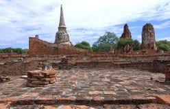 Stupa an Wat Mahathat, an den archäologischen Fundstätten und an den Artefakten Stockbild