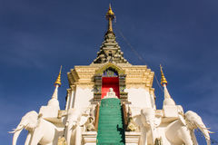 Stupa  in Wat Mokkanlan , Chomthong Chiangmai Thailand Royalty Free Stock Image