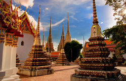 Stupa in Wat Pho Royalty Free Stock Photo