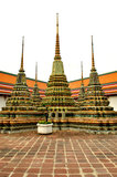 Stupa in wat pho. In Thailand Royalty Free Stock Image