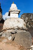 Stupa on the way to Everest base camp Stock Image