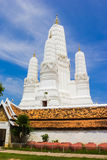 Stupa White in Wat Mahathat Thailand Stock Images