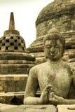 Stupa y Buda en Borobudur Foto de archivo