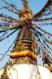 Stupa y ojos Foto de archivo libre de regalías