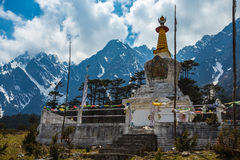 The stupa at Yumthang Valley in Lachung, North Sikkim, India Royalty Free Stock Image