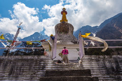 The stupa at Yumthang Valley in Lachung, North Sikkim, India Stock Photos